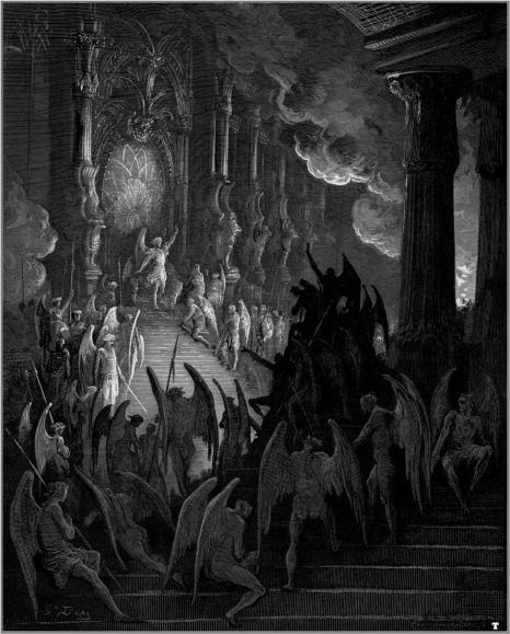 Gustave Dore Paradise Lost Satan takes his throne in Hell